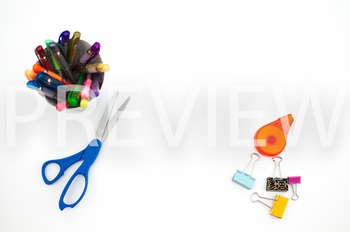 Stock Photo Styled Image: Desk Supplies #2 -Personal & Com