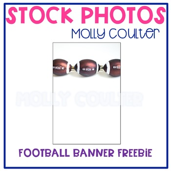 FREEBIE! Stock Photo: Fall Football Banner -Personal & Com