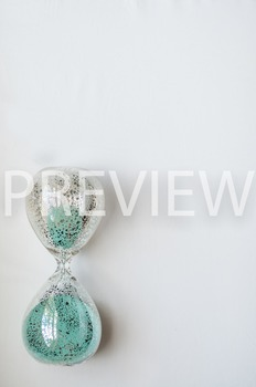 Stock Photo Styled Image: Glass Sand Timer #2 -Personal &