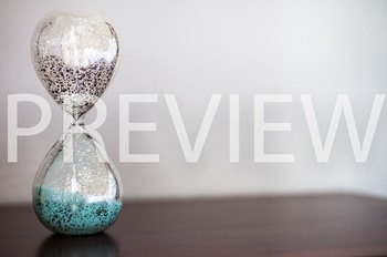 Stock Photo Styled Image: Glass Sand Timer #5 -Personal &