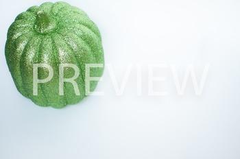 Stock Photo: Halloween Green Glitter Pumpkin #1 -Personal