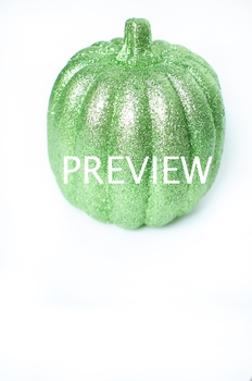 Stock Photo Styled Image: Green Glitter Pumpkin #2 -Person