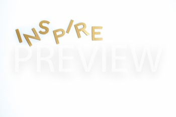 "Stock Photo Styled Image:""Inspire"" #1 in Gold Letters -Per"