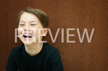 Stock Photo Styled Image: Laughing Student -Personal & Com