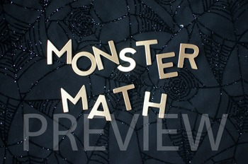 """Stock Photo Styled Image: """"Monster Math"""" #1 Words -Persona"""