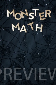 "Stock Photo Styled Image: ""Monster Math"" #2 Words -Persona"