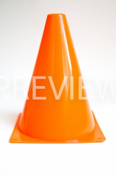 Stock Photo: Orange Construction/Safety Cone -Personal & C