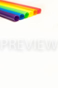 Stock Photo Styled Image: Rainbow Straws #2 -Personal & Co