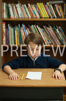 Stock Photo: Sad/Disappointed Student or Child -Personal &