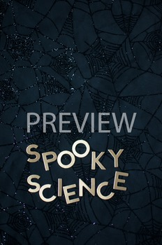 """Stock Photo Styled Image: """"Spooky Science"""" Words #3-Person"""