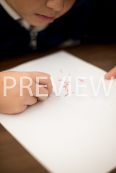 Stock Photo:Student Erasing their Mistakes #2-Personal & C