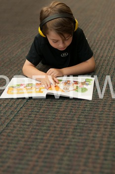 Stock Photo Styled Image: Student Reading #13-Personal & C