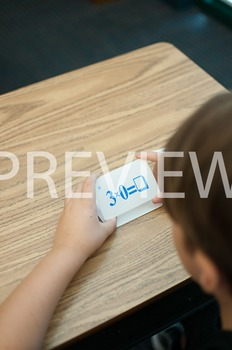 Stock Photo Styled Image: Student With Flashcards -Persona