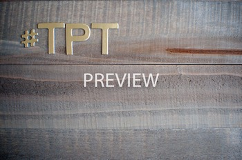 """Stock Photo Styled Image: """"#TPT"""" #1 in Gold Letters -Perso"""