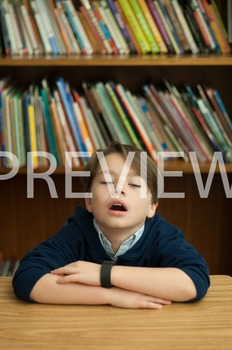 Stock Photo Styled Image: Tired Student -Personal & Commer