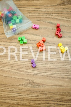 Stock Photo Styled Image: Unifix Cubes #6 -Personal & Comm