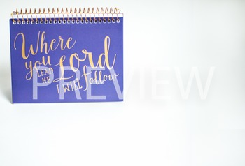 Stock Photo: Scripture Notepad with a Bible Verse -Persona