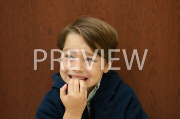 Stock Photo Styled Image: Worried Student -Personal & Comm