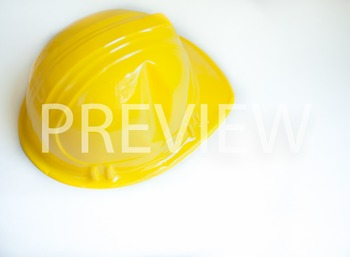 Stock Photo Styled Image: Yellow Construction Hat -Persona
