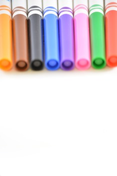 Stock Photos - Colored Markers - Stock Images