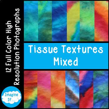Stock Photos-Tissue Textures Mixed Colors