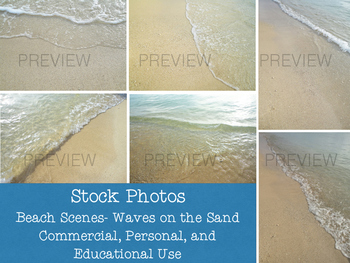 Stock Photos: Waves on the Sand-Beach Scenes (Commercial a