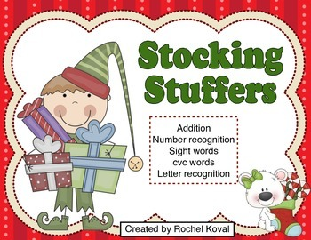 Addition, number & letter recognition, sight words - Stock