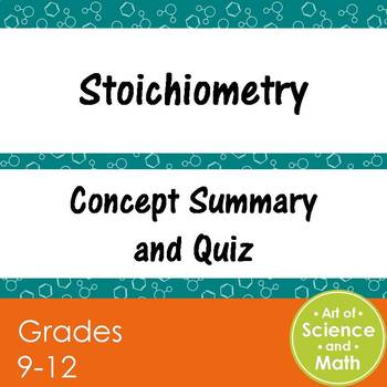 Stoichiometry - High School Science