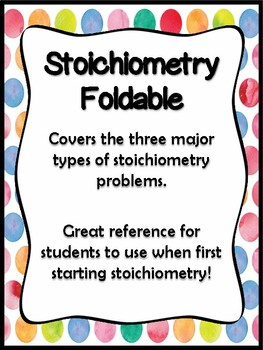 Stoichiometry Foldable