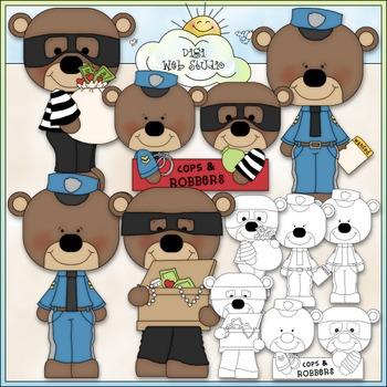 Stole My Heart Bears Clip Art - Valentine's Day Clip Art -
