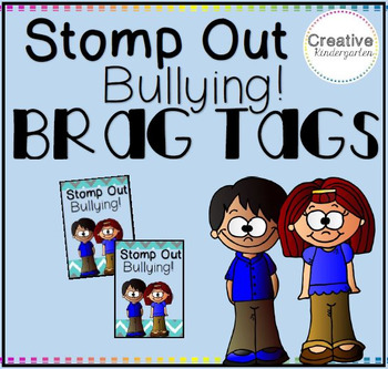Stomp Out Bullying Brag Tags
