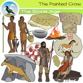 Stone Age Clip Art Set -  Hunters and Gatherers