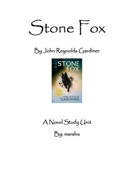 Stone Fox ~ A Novel Study Unit for Reader's Workshop