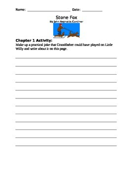 Stone Fox Chapter Discussion Comprehension Questions