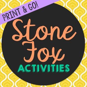 Stone Fox Novel Study Activities, Book Report, Vocabulary