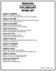 Stone Fox Vocabulary Word List