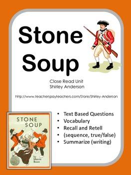 Stone Soup- Close Read