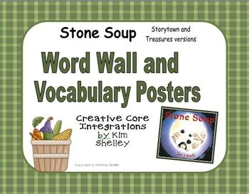 Stone Soup Vocabulary Posters and Word Wall - Storytown an
