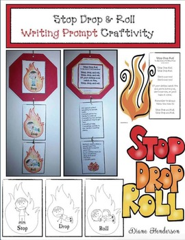 Stop Drop & Roll Writing Prompt Craftivity