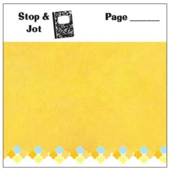 Stop & Jot Mentor Text Planning Sticky Notes