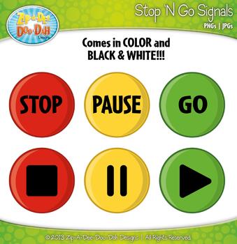 Stop 'N Go Signals Clip Art Graphics — FREE!