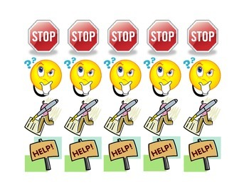 Stop Question Mark Help Bookmark for Reading Strategies