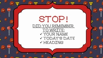 Stop! Remember to head your paper