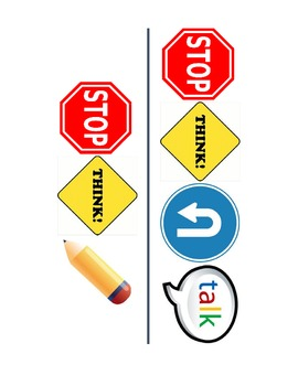 Stop Think Turn and Talk/Jot-It-Down Picture Bookmarks