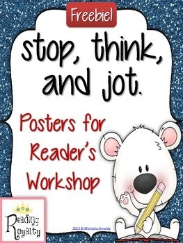 Stop, Think, and Jot - FREE posters!