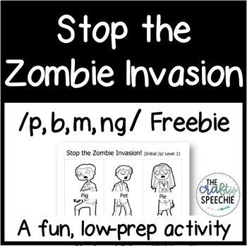 Stop the Zombie Invasion Freebie: An Articulation Activity