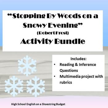 Stopping by Woods on a Snowy Evening Activity Bundle (Robe