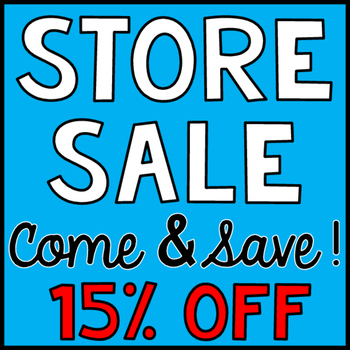 Store Sale 15% OFF