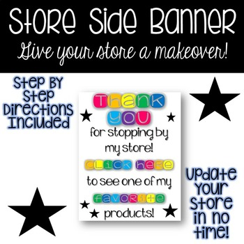 Store Side Banner - Colorful