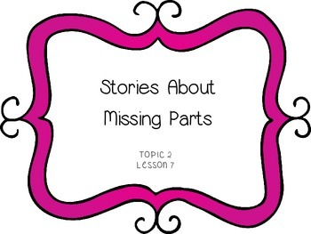 Stories about Missing Parts - First Grade enVision Math